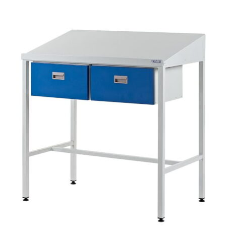 Team Leader Workstation with Two Single Drawers