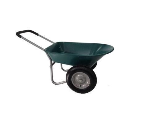 two wheeled wheelbarrow 75l capacity