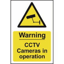 image of warning cctv cameras in operation sign